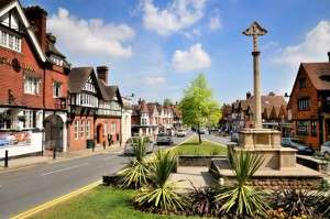 A general view of a Haslemere town centre at Surrey, England. The town boasts community spirit and a low crime rate   Image shot 05/2010. Exact date unknown.